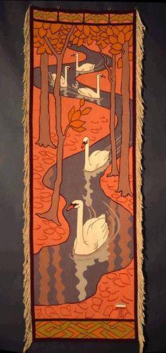 Five Swans - Otto Eckmann  (1897)