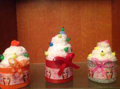 Cupcakes en toallas Barbie
