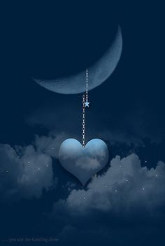 Love this moon and heart                                          .