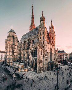 Which photo of Austria is your favorite, 😍 Admont Abbey - The Graben in Vienna - Stephansdom in Vienna - Hundertwasserhouse in Vienna - Hallstatt - Hallstatt - Sölden - Cities In Europe, Europe Destinations, Europe Europe, Central Europe, Holiday Destinations, Places To Travel, Places To Visit, Europe Centrale, Vacation Places