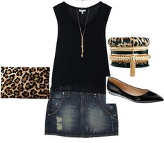 """""""leopard and denim"""" by dianacnyc on Polyvore"""