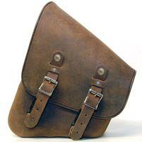 Leatherworks, Inc. Distressed Brown Leather Swing Arm Bag
