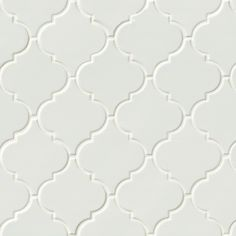 Best Close Up White Arabesque Porcelain Tiles Silver Gray 400 x 300