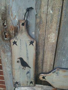 primitive braed board...crow & star