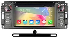 """YINUO 6.2"""" Android 4.4 Car DVD Player GPS Stereo for Jeep Wrangler 07-12/Jeep Grand Cherokee 08-12/Dodge Jcuv 08-11 In Dash Navigation Receiver with 800*480 HD Capacitive Digital Touch Screen support GPS/DVD/iPhone Screen Mirroring/AM FM Radio/Steering Wheel Control/Bluetooth/Built-in Wifi Hotspots/3G/OBD2/DVR/AV-IN with Free External Mic & 8GB Map Card as gift, BACKUP CAMERA INCLUDED YINUO http://www.amazon.com/dp/B00VE3QFRE/ref=cm_sw_r_pi_dp_..gVvb1ZHF8RB"""