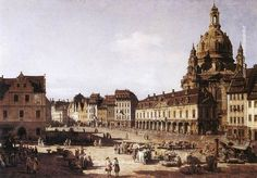 Bernardo Bellotto New Market Square in Dresden, 1750 painting online, painting Authorized official website