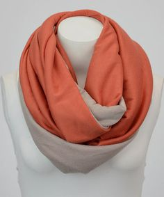 Look at this #zulilyfind! Rust & Gray Jersey Infinity Scarf by Leto Collection #zulilyfinds $9.99