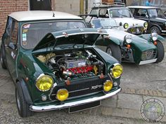 """Mornin Miniacs Two Mighty Motoring Icons open the show today, a beautiful Innocenti Cooper & a cool Caterham 7. Both are often talked about as a """"proper drivers car"""" but the question is... which would you take for a Sunday Drive? I know which I'd choose ! Have a great day folks"""