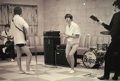 The Beatles --- love those short shorts!