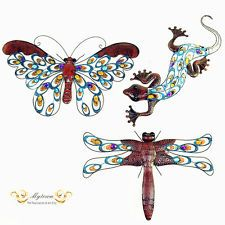 Dragonfly Metal Wall Art new rectangle dragonfly metal wall art | metal sculpture | garden