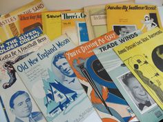 1930's Sheet Music lot of 12 Gorgeous Vintage by loonlakevintage