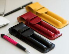 Leather pen case. Fountain pen case. Fountain pen. Pen case.