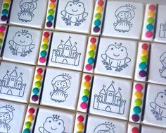 Princess Frog Castle Paint Your Own PYO cookies