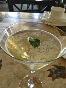 "Darjeeling tea martini at ""tea and tinis"" end of 2013"