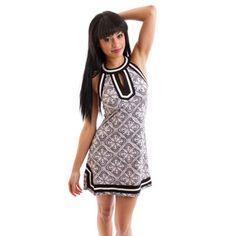 Brynn Halter Dress Black