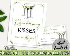 Kisses Guessing Game Bridal Shower Kisses Guessing Game Modern Martini Bridal Shower Kisses Guessing Game Bridal Shower Modern Martini ARTAN #bridalshower #bride-to-be #bridetobe
