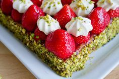Recipe: Strawberry and pistachio tart by Michalak