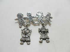 Vintage Brooch / Pin Signed EFS 925 Sterling Silver by KathiJanes, $29.95