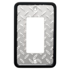 Diamond Plate Single Decorator Wall Plate