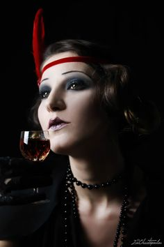 Fads, trends and fashion from the beginning of the 20th century up to the 1980's. 1920-1929's The Roaring Twenties Photographer: Evi Christopoulou Model: Eleni Psaroudaki MUA: Olga Van Der Heyden #surreal #conceptual #fineart #fashion #photography #makeup #portrait #retro #vintage