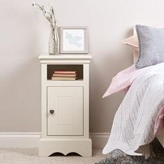 Sweetheart by name, sweetheart by nature, this pretty Sweetheart children's bedside cabinet - silk white (left hinges) guarantees sweet dream. Childrens Bedroom Storage, Childrens Bookcase, Kids Bedroom, Bedroom Ideas, Kids Bedside Table, Bedroom Cupboard Designs, Bunk Bed Designs, White Bedroom Furniture, Bedside Cabinet