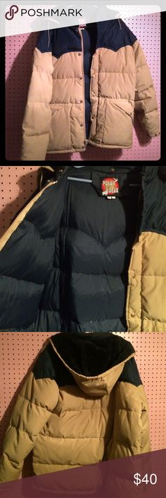 Men's Pufffer Coat Long In pretty good condition just a little bit of wear nothing noticeable or anything that is damaged. Size is a 46 long. Make offers it's just sitting around taking up space polar gear Jackets & Coats
