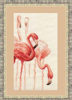 Cross Stitch Kit by Golden Fleece Flamingo N by ArtfulStitchings