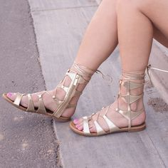 Lavinia Gladiator Sandals - Gold