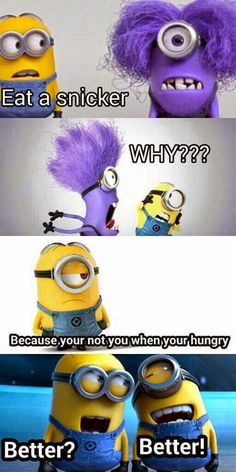 """Minions and snickers - clever! I like this new ad series they are doing. My fav one? Halloween and the """"Headless Horseman."""""""