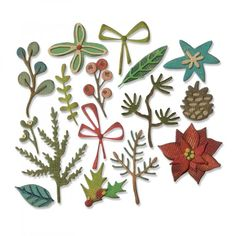 Sizzix 663087 Thinlits Dies Funky Foliage by Tim Holtz us:one Size 16-Pack Multicolor
