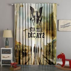 3D Printed State Of Decay 2 Style Custom Living Room Curtains – Westbedding