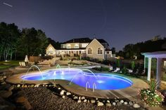 Lighting effects by Concord Pools!