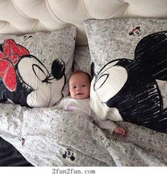 I like the Mickey and Minnie sheets and pillow covers.. (ignore the baby)