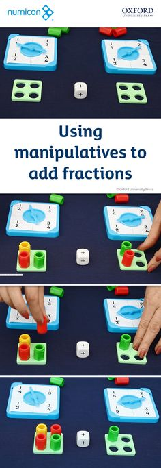 Video: Using manipulatives to add fractions. Find out more about Manipulatives at www.oxfordprimary.co.uk/manipulatives. Explore and purchase Numicon resources at www.oxfordprimary.co.uk/numicon. #numicon