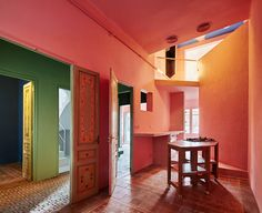 In His Barcelona Home Guillermo Santomà Used Vibrant Shades Of - Barcelona colors