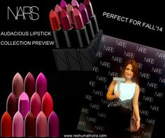 NARS Audacious Lipstick Collection preview