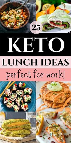 The best keto lunch ideas: 25 easy low carb recipes that you can take to work. A wide variety of tasty dishes to help you stick to your diet goals! ketogenic diet | keto diet | low carb diet | low carb recipes | keto recipes | low carb lunch | weight loss | quick keto recipes | low carb recipes for lunch | keto meal prep | ketosis | keto lunch meal prep | keto lunch bowls | vegetarian keto lunches for work | keto snack ideas | #keto #ketodiet #ketoluch #ketorecipes #lowcarb #ketosnacks Vegetarian Brunch Recipes, Vegetarian Keto, Lunch Recipes, Vegan, Low Calorie Recipes, Keto Recipes, Healthy Recipes, Healthy Food, Healthy Eating
