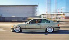 BMW E36 3 series beige slammed