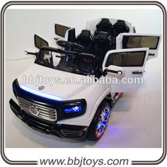 White Heavy Duty Edition 2 Seats Ride on Car with RC - The ultimate Heavy Duty Mercedes SUV Style kids ride on car, 2 Seats with 4 working doors,ThisHeavy Duty Edition Limousine 2 Seats / 4 Doors Kids Ride on Car with RC - The ultimate Heavy Duty Kids Ride On Toys, Toy Cars For Kids, Toys For Girls, Kids Toys, Kids Power Wheels, Power Wheel Cars, Jeep Wheels, Accessoires Barbie, Girly Car