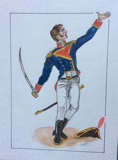 Oficial de la Armada en la Guerra de Independencia contra los franceses el 2 de mayo de 1808.