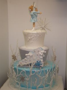 Ice Skating Cake Love this cake Jessica Scieszinski !!!