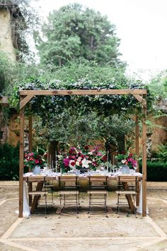 Bohemian Outdoor Wedding Reception // Photography ~ White Images