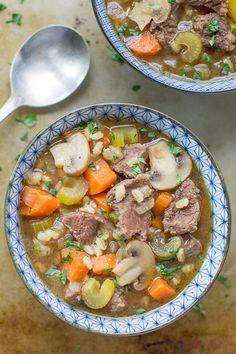 29. Beef Barley Soup #crockpot #dinner #recipes http://greatist.com/eat/time-saving-crock-pot-recipes