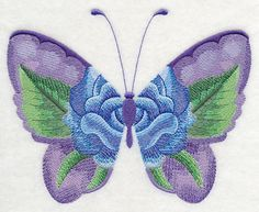 Blue Rose Butterfly in Watercolor