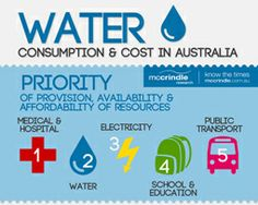 Water consumption and cost  infographic