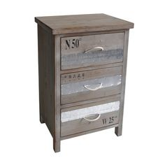 Found it at Wayfair - Wooden Chest with 3 Drawers and Rope Handles