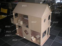 With measurements.  I can use this to make the dollhouse fast!