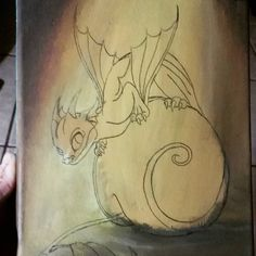"""Transfered to canvas and now to paint it in. #workinprogress #dragonpainting #dragon #dragonart #fantasyart #fantasy #art #painting"""