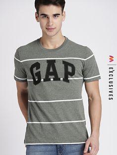 8e5d00ca76 GAP Men's Grey Striped Polo Tshirt - | 1349 Latest Mens Wear, Latest  Fashion For
