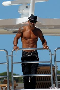 Shemar Moore Shirtless Yacht Cannes Film Festival